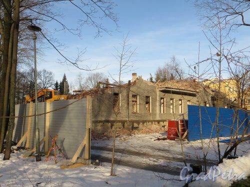 1-я Березовая аллея, дом 7. Снос корпуса «литера А». Фото 11 февраля 2015 года.
