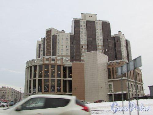 Малая Каштановая аллея, дом 7. Вид здания Фитнес-клуба «Sculptors» и жилого комплекса «Радуга». Фото 15 февраля 2018 года.