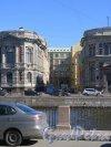Перспектива Банного переулка от набережной реки Фонтанки в сторону Загородного проспекта. фото июнь 2017 г.