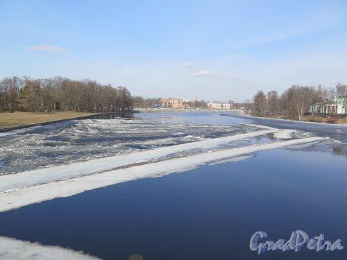 Река Средняя Невка. Вид реки с наб. Каменного острова. фото март 2016 г.