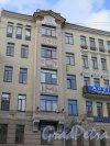 9-я линия В.О., д. 34. Доходный дом М. А. Лидерс-Веймарн, 1910. Центральная часть фасада. фото сентябрь 2015 г.