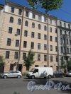 6-я линия В.О., д. 47 (левая часть). Доходный дом А. Л. Сагалова, 1914, арх. А.Л. Берлин. Общий вид фасада. фото май 2018 г.