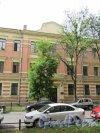 21-я линия В.О., д. 4. Здание Химической лаборатории Горного института, 1900-01, арх. Н.И. де Рошефор, А.И. Дитрих. Центральная часть фасада. фото июнь 2018 г.