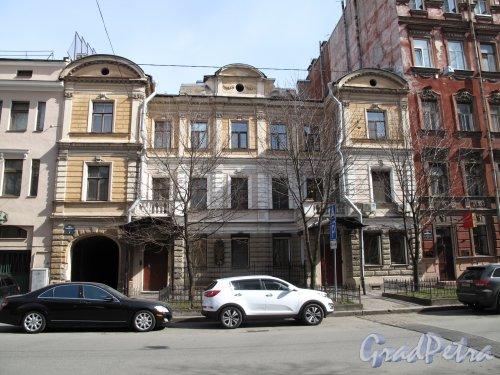 10-я линия В.О., д. 9. Собственный дом арх. К. К. Шульца. Общий вид. фото апрель 2015 г.