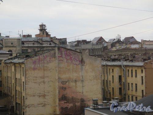 6-я линия В.О., д. 29. «Новый музей». Вид из окна музея. фото февраль 2015 г.