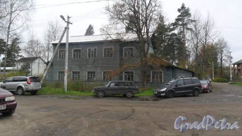 Всеволожск, 1-я линия, дом 43. Дом детского творчества(старое здание). Фото 10 октября 2016 года.