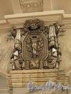 Станция метро «Кировский завод». Рельеф «Угольная промышленность» на пилоне колонны подземного вестибюля. Фото февраль 2015 г.