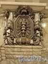 Станция метро «Кировский завод». Рельеф «Электрофикация» на пилоне колонны подземного вестибюля. Фото февраль 2015 г.