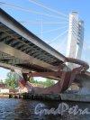Мост Бетанкура, 2005-20018, проект Института «Стройпроект». Вид опор на Петроградской стороне. фото май 2018 г.