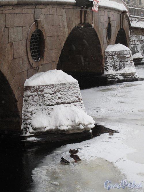 Прачечный мост зимой. Фрагмент. Фото январь 2011 г.