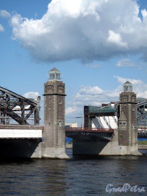 Большеохтинский мост. Центральная часть. Фото август 2011 г.