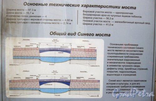 Синий мост. Фрагмент информационного щита о ремонтных работах. Фото 1 мая 2014 г.