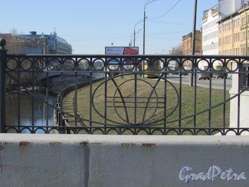 Фрагмент ограды Каретного моста. Фото 22 марта 2016 года.