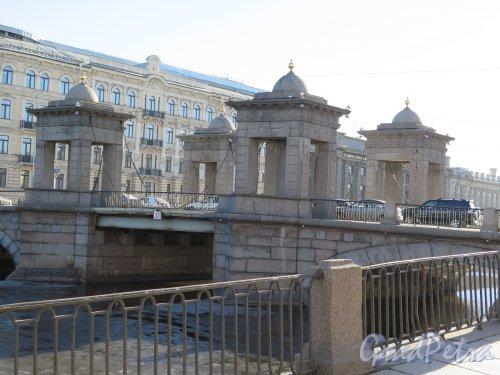 Мост Ломоносова (Чернышев мост). Общий вид. фото март 2015 г.