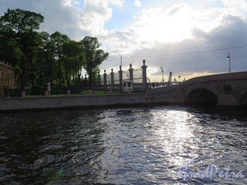 Прачечный мост. Вид на устье Фонтанки и Прачечный мост. фото май 2015 г.