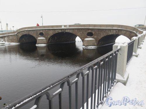 Прачечный мост зимой. Вид со стороны Фонтанки. Фото февраль 2016 г.