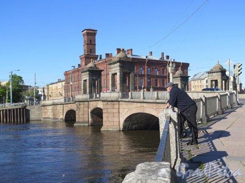 Старо-Калинкин мост. Общий вид моста. фото июнь 2017 г.