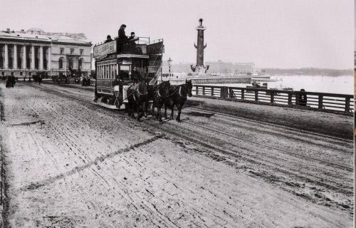 Дворцовый мост. Фото начало XIX века.