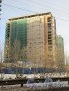 Ушаковская набережная, дом 3. Строительство корпуса «Г4»жК «RIVERSIDE» со стороны набережной Чёрной речки. Фото 11 февраля 2015 года.