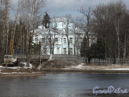 Наб. реки Крестовки, д. 2. Голубая Дача. Общий вид с Песочной наб. Фото март 2014 г.