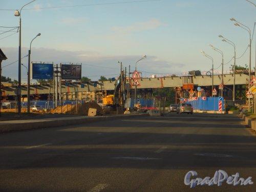 Набережная Обводного канала. Строительство автомобильной развязки. Фото 20 июня 2014 года.