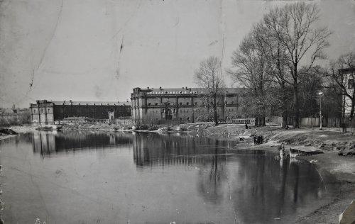 Перспектива Кронверкской набережной и вид на здание Артиллерийского музея. Фото 1960-х годов.
