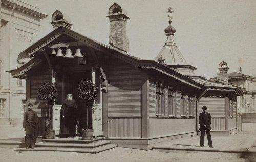 Временная часовня на Екатерининском канале. 1885 год