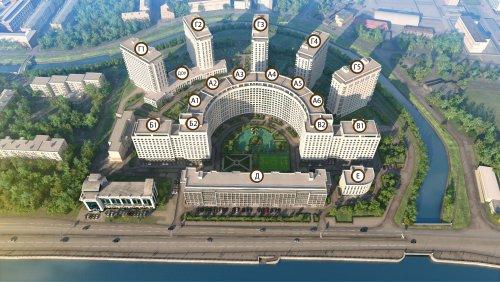 План жилого комплекса «RIVERSIDE».