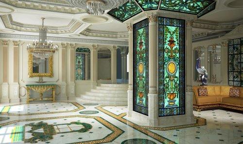 Интерьер холла в клубном доме «Hovard Palace» (набережная реки Фонтанки, дом 76).