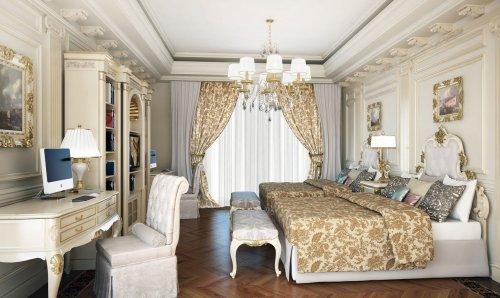 набережная реки Фонтанки, дом 76. Предлагаемый интерьер спальни в клубном доме «Hovard Palace».