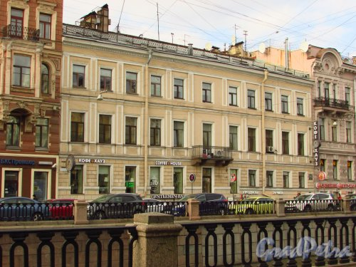 набережная канала Грибоедова, дом 17. Фасад дома К. Вельша. Фото 20 октября 2016 года.