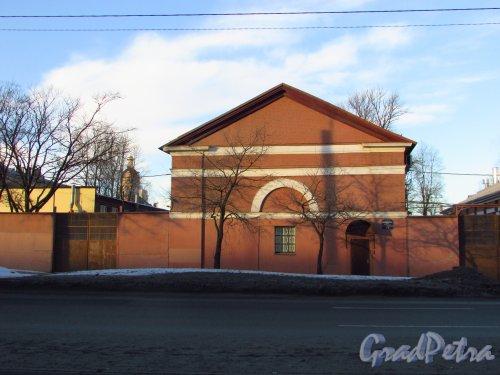 набережная Обводного канала, дом 5, литера А. Торец здания. Фото 20 января 2017 года.