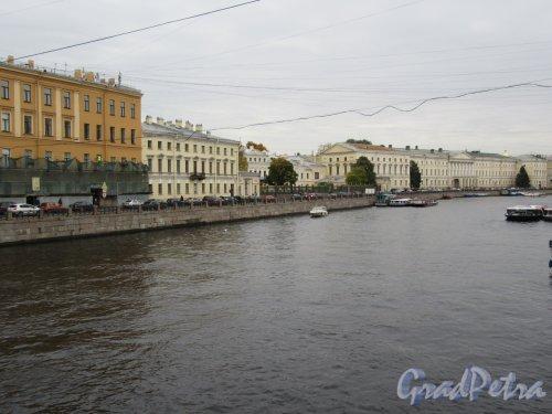 Наб. реки Фонтанки. Застройка четной стороны с моста Белинского. фото октябеь 2017 г.