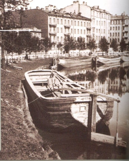 набережная реки Карповки, дом 21. «Набережная реки Карповки». Фото начала XIX века.