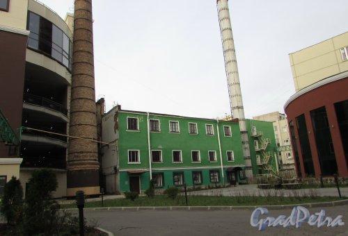 набережная реки Карповки, дом 5, литера К. Здание бывшей котельной «Ленполиграфмаша». Фото 5 ноября 2019 года.