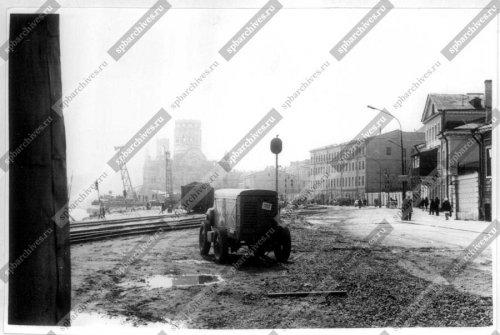 Вид части Синопской набережной около домов №38 и №40. Дата съёмки: 1960-е гг. Автор съёмки: Клейнман А.А.
