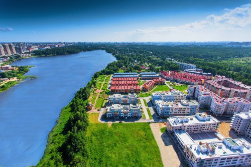 Жилой комплекс «Новая Скандинавия». Центральная часть жилого комплекса.