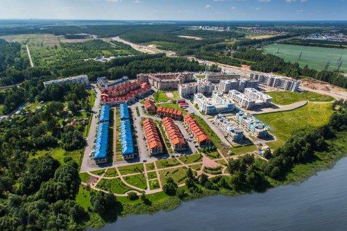 Жилой комплекс «Новая Скандинавия». Общий вид комплекса в сторону Приморского района.