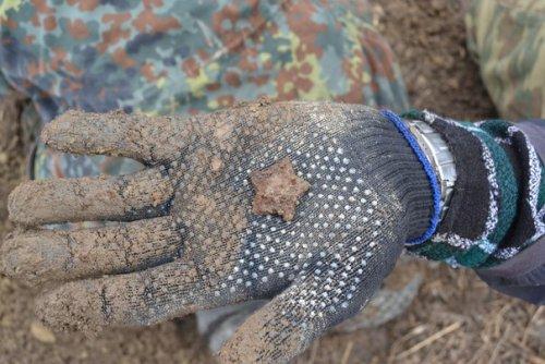 Город-спутник «Южный». Награда, найденная в районе поселка Кондакопшино при поисковых работах отряда «Ингрия». Фото апрель 2014 г.
