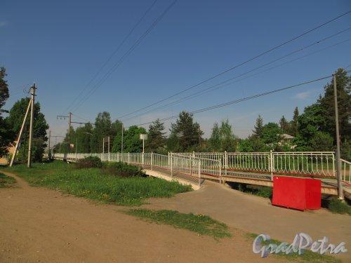 поселок Ириновка, железнодорожная платформа «Ириновка». Фото 25 мая 2014 года.