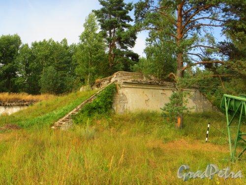 Форт Красная Горка. Укрепление форта. Общий вид. Фото 9 августа 2014 года.