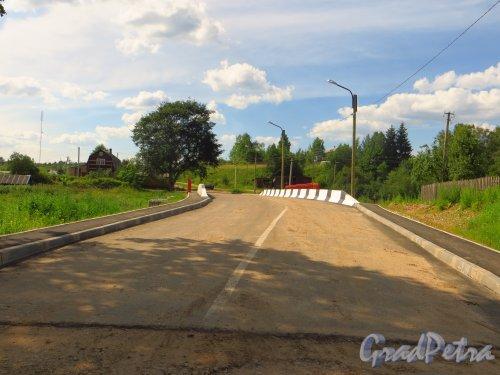 Лен. область, Лужский район, дер. Долговка. Новый мост через реку Долгуша. Фото 20 июля 2014 года.