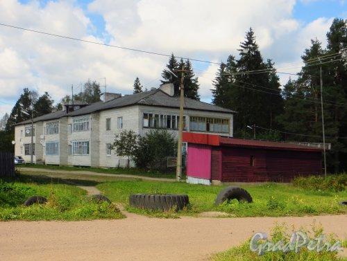 Ленинградская область, Выборгский район, поселок станции Вещёво. Один из жилых домов. Фото 6 сентября 2014 года.