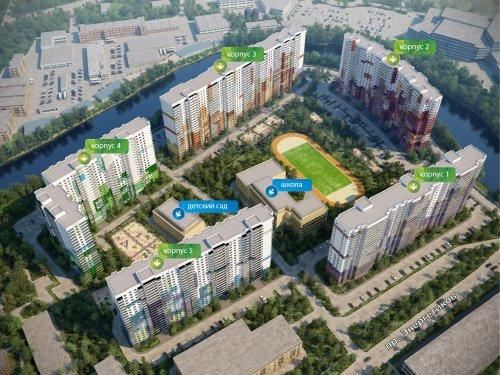 Проект застройки участка жилого комплекса «ЗимаЛето»