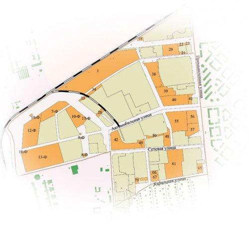 Планировка Производственной зоны «Пушкинская» («Восточная»)