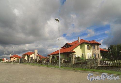 Территория коттеджного поселка «Репинская усадьба». Фото 23 июля 2015 года.