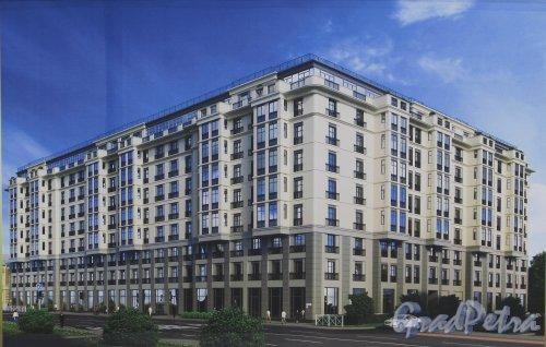 Проект жилого комплекса «Дипломатъ» (пр. Бакунина, дом 27). Фото 26 марта 2016 года.
