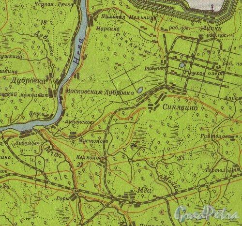 Село Анненское и село Мустолово на карте 1938 года.