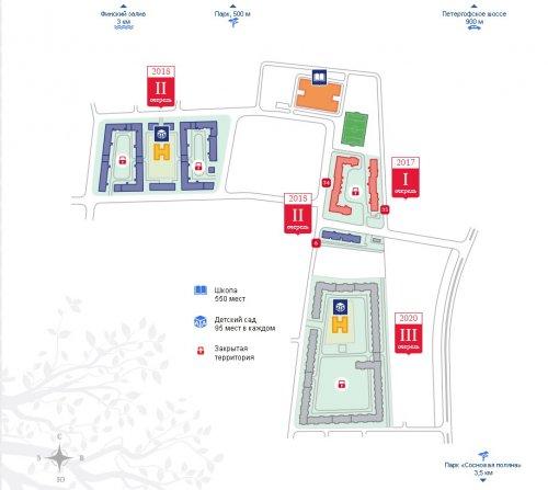 Проект планировки жилого комплекса «Английская миля» (2015 год).