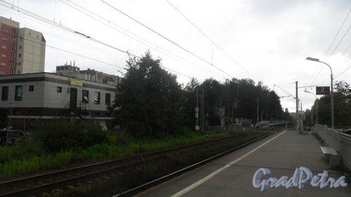 Всеволожск, Бернгардовка, железнодорожная станция Бернгардовка. Фото 15 августа 2016 года.